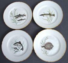 BING & GR��NDAHL 4 Teller Fisch Motiv (Entwurf: Sonja Ibsen 1942, 1956) 24 cm RAR