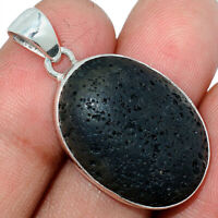Lava Stone 925 Sterling Silver Pendant Jewelry AP115147 XGB