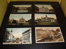 Vintage Canada Post Card Quantity 5 Lot VG 1936 Sherbrooke Quebec / Toronto UNIV