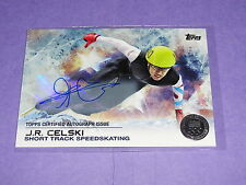 2014 Topps US Olympic J R CELSKI #14 Autograph Silver Variant/30 Speed Skating