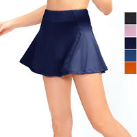 Womens Casual Sport Skirts Build in Shorts Running Yoga Gym Tennis High Waisted