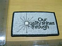 OUR QUALITY SPARKLY GLITTER VINTAGE EMPLOYEE UNIFORM PATCH BADGE SEW IRON ON CH