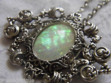 MOTHERS DAY Opal Rainbow Necklace Brooch Pendant Victorian Edwardian ART DECO