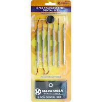 6 Pc Stainless Steel Dental Tool Set Dentist Teeth Kit Clean Hygiene Pick Probe