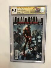 Ultimate Fallout (2011) # 4 (CGC SS 9.6 WP) 1st App Miles Signed Bagley W/Sketch