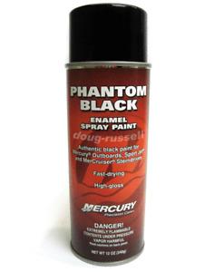 Mercury/QUICKSILVER Phantom Black Gloss OEM Engine Spray Paint Can Factory Color