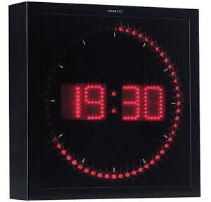 Horloge digitale murale avec 60 LED - Rouge - Lunartec