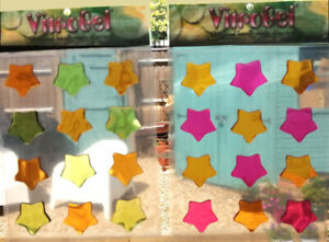 Vitrogel Stars Reusable Decorative Gel Window Clings Stickers 2 Colours 1 Set