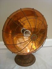 Domino DeLuxe Bowl Table Heater Lamp Copper Vintage Dominion 600 Watts
