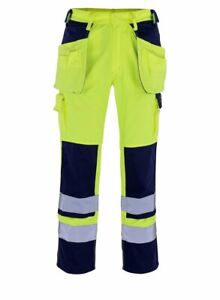 Mascot Almas HIGH VIS measured work trousers with Holster & Kneepad Pockets NEW