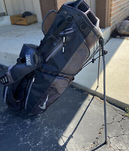 Nike Air Sport Stand Golf Bag Black Silver Stand Bag 8 Way Divider With Hood