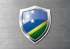 Solomon Islands flag shield sticker 3d effect quality 7 year water & fade proof