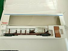 Ho Scale Marklin 4 axle Stake Car with Brass mess loads  4766