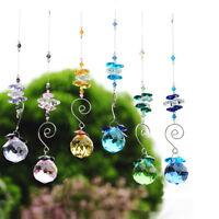Set 6 Rainbow Maker Crystal Suncatcher Feng Shui Prisms Pendant Wedding Decor