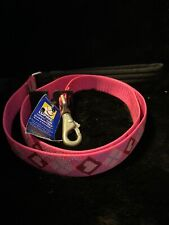"""New-Lupine Dog Leash Lead 1"""" PUPPY LOVE 4 Foot Pink Hearts Diamonds Red Argyle"""