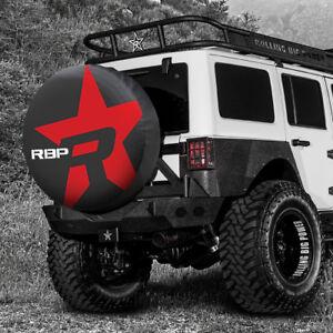 Universal RBP Tire Cover Red Star Fits 29.5 - 32.5 tire For Wrangler 4Runner