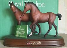 ROYAL DOULTON HORSE PONY SPIRIT OF LOVE  MODEL No. DA 225 BROWN MATT BOXED