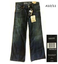 HILFIGER Lavina $175 NEW Distressed Loose Fit Stretch Wide Leg Jeans W25 L32 QCO