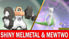 Pokemon Let's GO 6 IV Shiny Melmetal & Mewtwo Legendary!!!