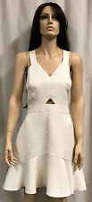 Authentic Rebecca Taylor Cream Textured Fit and Flare Dress Sz. 12 NWT $595