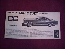 1966 Buick Wildcat instructions only