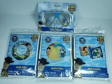 Toy Story 4 Pool Toy Set Arm Floats Swim Ring Beach Ball Goggles Buzz Lightyear