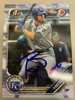 Brewer Hicklen 2019 Bowman Draft Kansas City Royals Signed Card