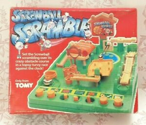Vintage Screwball Scramble Game by Tomy 1980s Family Skill Action Game Complete
