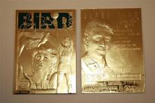 LARRY BIRD 23KT Gold Card Sculptured 1997 Boston Celtics NM-MT - Serial Numbered