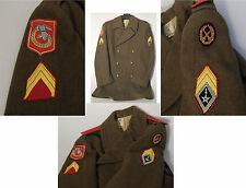 (PRL) CAPPOTTO DIVISA WW II FORZE ARMATE COLLEZIONE UNIFORM OVERCOAT PATCH ARMY