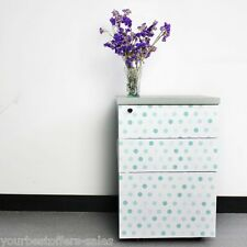 Self Adhesive Vinyl Contact Paper Shelf Liner Blue Dots Surface Cover Brand New