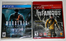 PS3 Game Lot - Infamous (New) Murdered Soul Suspect (New)
