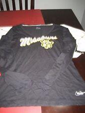 WOMENS Nike RETRO SLIM FIT MISSOURI LONG SLEEVE T Shirt BLACK S SMALL  NWT