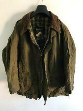 Mens Barbour Vintage Gamefair wax jacket Green coat C44 size Large / Extra Large
