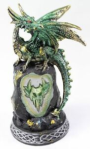 """Mythical Western Dragon 8"""" IC Color Change Nightstand Desk Light Medieval Decor"""
