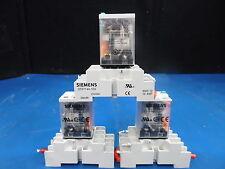 Lot OF 3 SIEMENS P/N: 3TX7144-1E5 & P/N: 3TX71 Socket