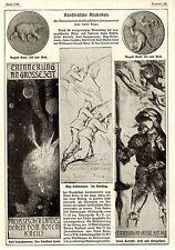Künstl. Andenken * Rotes Kreuz * Bohrdt * Liebermann * Gaul * Bilddokumente 1915