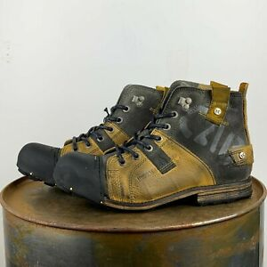 """YELLOW CAB Schuhe , Stiefel ,  Boots  """" INDUSTRIAL """"  YELLOW ym1"""