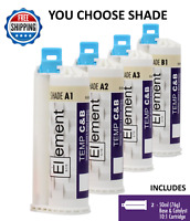 2 ELEMENT Temporary Crown and Bridge Material Cartridges Shades A1,A2,A3 or B1