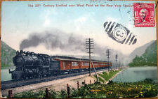 1908 Railroad Postcard: 20th Century Limited Train - West Point, New York