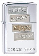Zippo Chrome Generations Lighter, 24207, +Wick +Flints