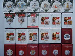 Hutschenreuther Weihnachtskugel Porzellan 1986 1987 1990 bis 2020 EINZELVERKAUF