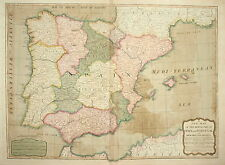 THE KINGDOMS OF SPAIN AND PORTUGAL BY LAURIE & WHITTLE 1803