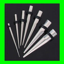 16pc Stretching Kit 0g-14g 316L Steel Tapers (e12)
