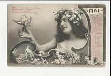 cartolina calendario mese maggio mai 1904