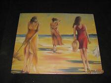 Leinwandbild, Frauen am Strand, 23 x 30 cm - Neu & OVP