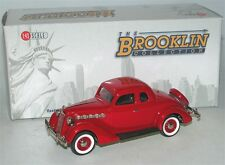 Brooklin BRK 90, 1953 Plymouth De Luxe 3-Window Coupe, Flame red, 1/43