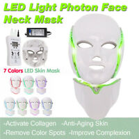 7 Color LED Light Photon Face Neck Mask Rejuvenation Skin Facial Therapy Wrinkle