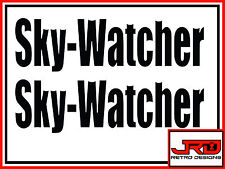 2 x Sky-Watcher Vinyl Logo Stickers in Black