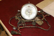 alpina motorcycle parts 75 bultaco alpina model 138 350cc front head light lucas wiring harness coil